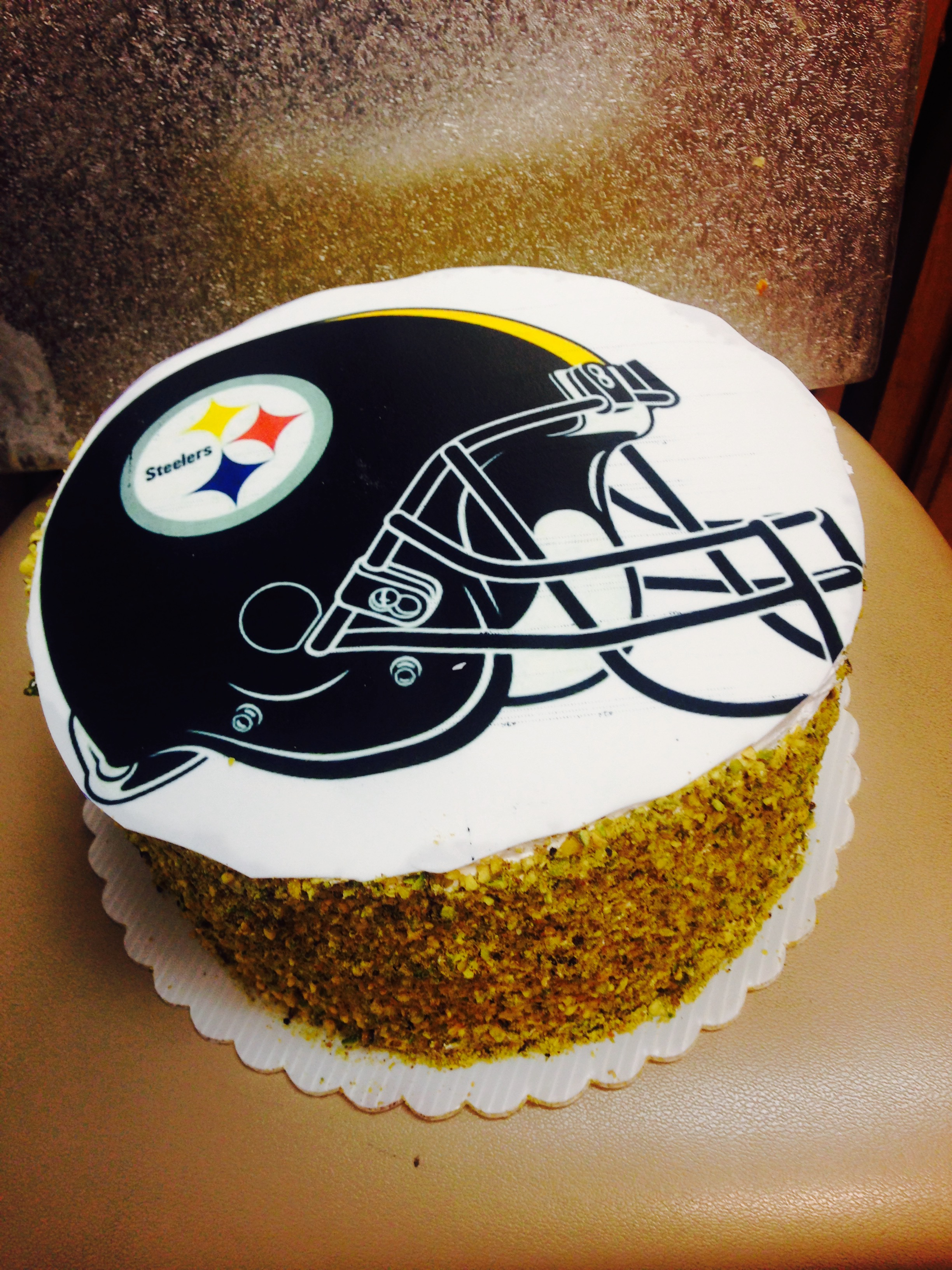 Outstanding Pittsburgh Steelers Nfl Themed Cake Wild Berries Bakery And Cafe Funny Birthday Cards Online Aeocydamsfinfo