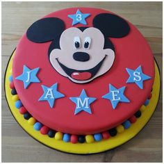 Phenomenal Mickey Mouse 1St Birthday Cake Wild Berries Bakery And Cafe Personalised Birthday Cards Bromeletsinfo