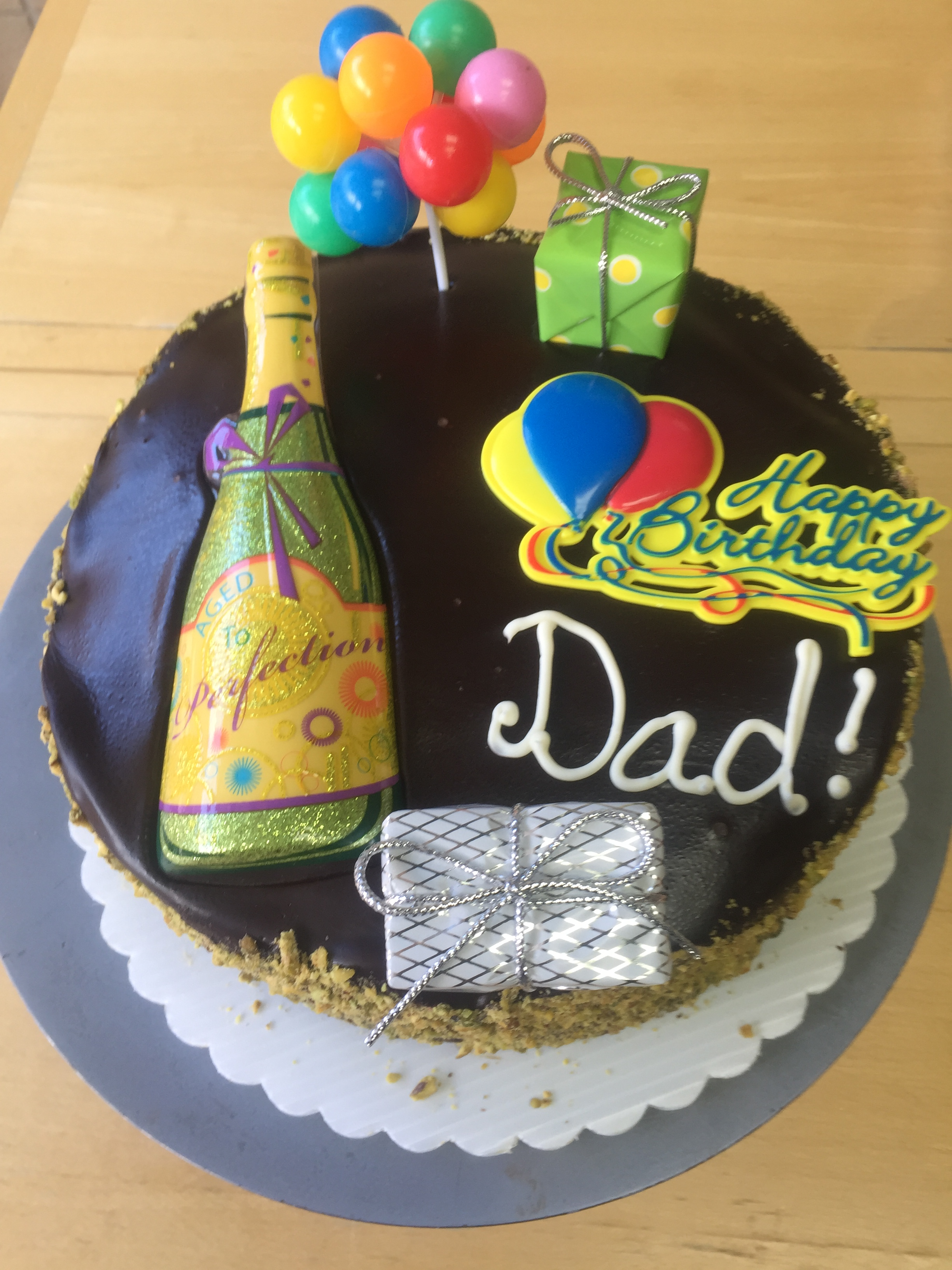 Superb Dads Birthday Cake Wild Berries Bakery And Cafe Funny Birthday Cards Online Elaedamsfinfo