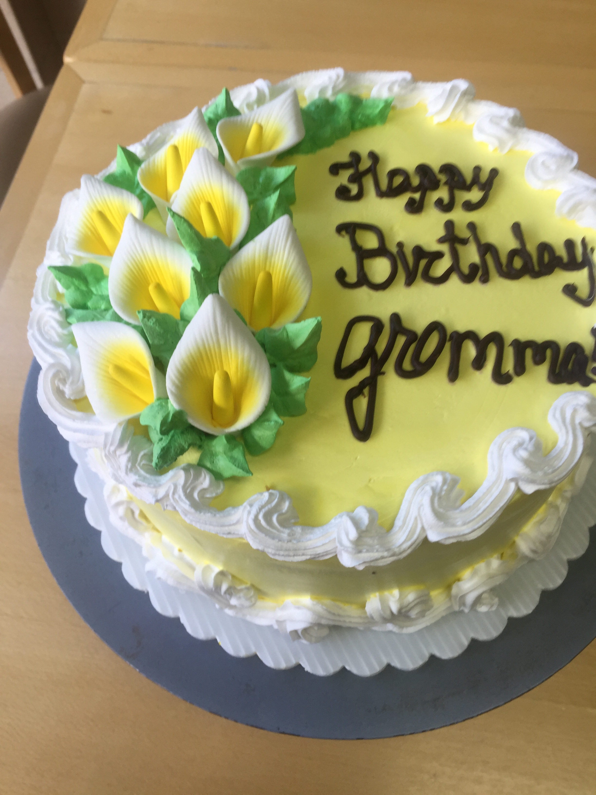 Lemon Birthday Cake For Grandma Wild Berries Bakery And Cafe