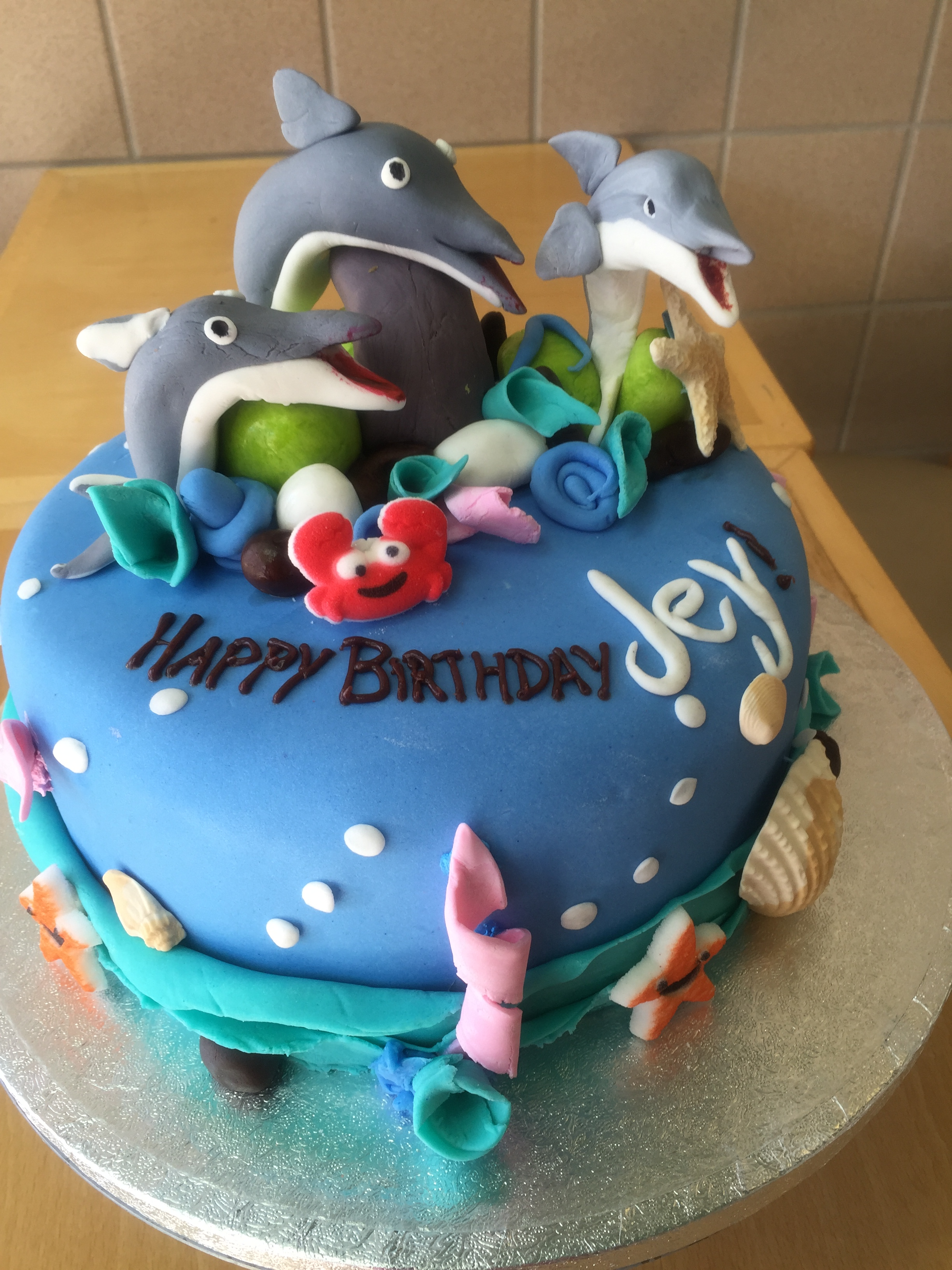 Superb Ocean Themed 30Th Birthday Cake Wild Berries Bakery And Cafe Funny Birthday Cards Online Aeocydamsfinfo