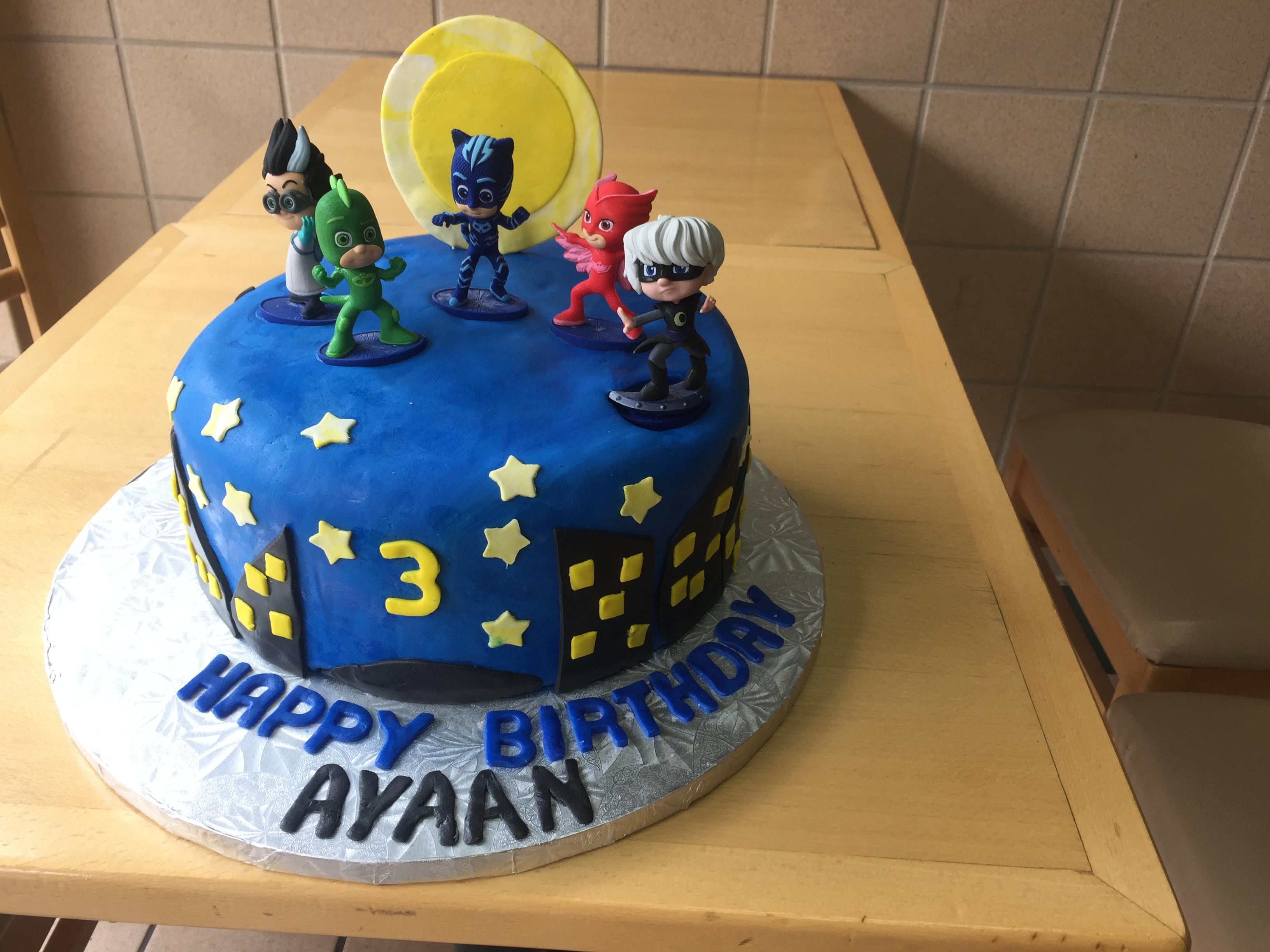 Pj Masks Birthday Cake Wild Berries Bakery And Cafe
