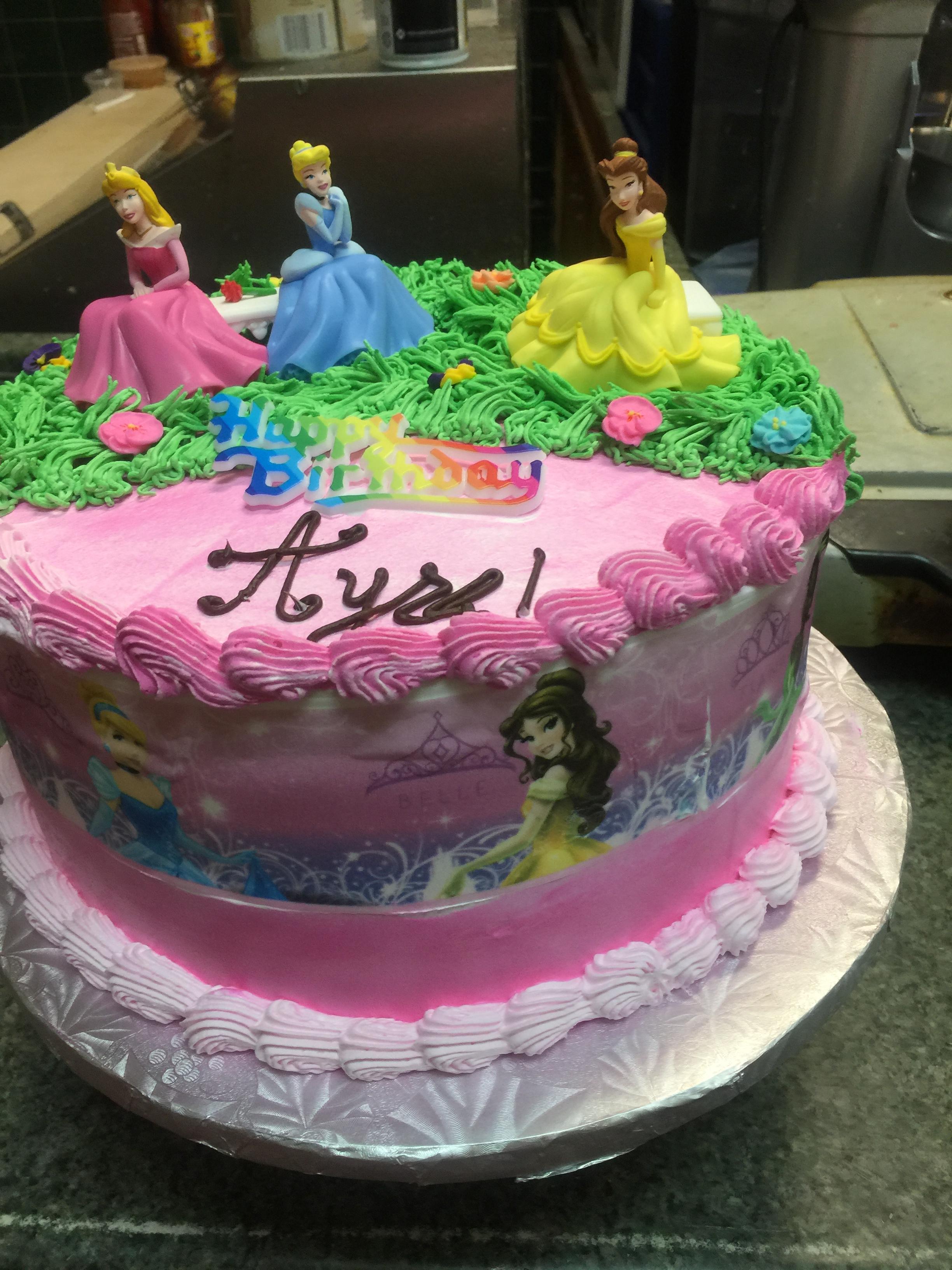 Disney Princess Themed Birthday Cake September 2017