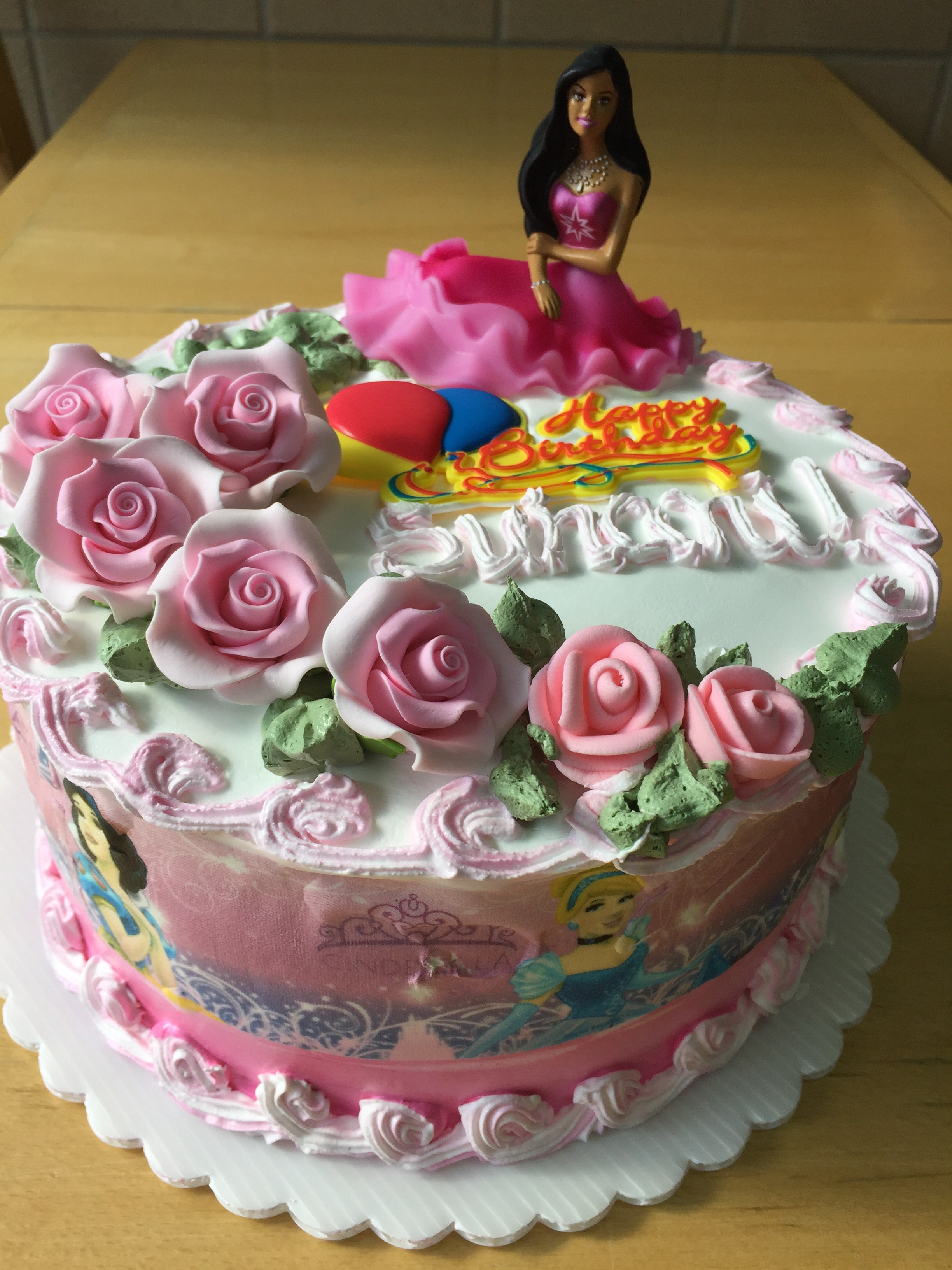 Admirable Princess Birthday Cake September 2017 Wild Berries Bakery And Cafe Funny Birthday Cards Online Alyptdamsfinfo