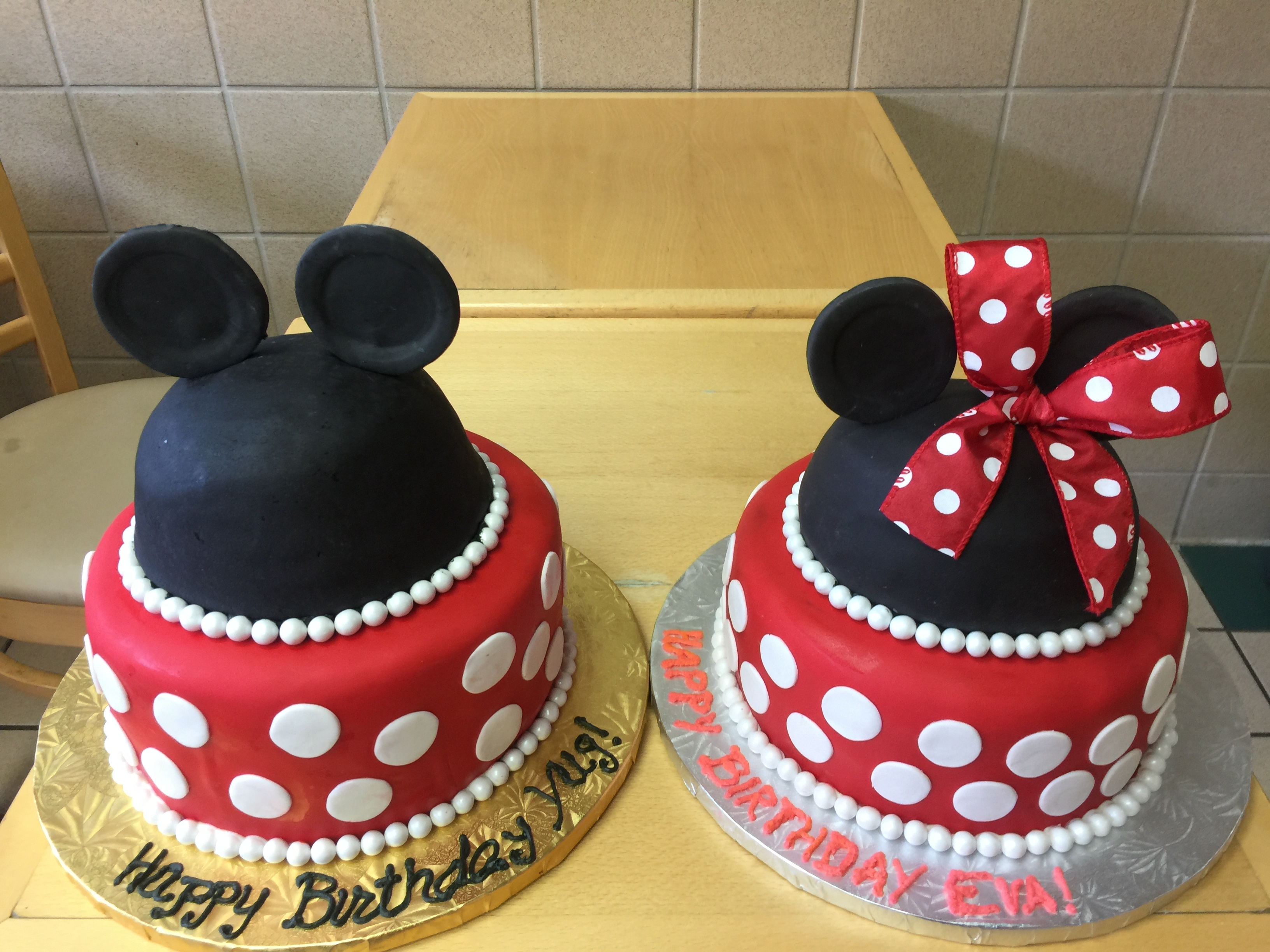 Twin Brother And Sister Mickey Mouse and Minnie Mouse Cakes – Wild ...