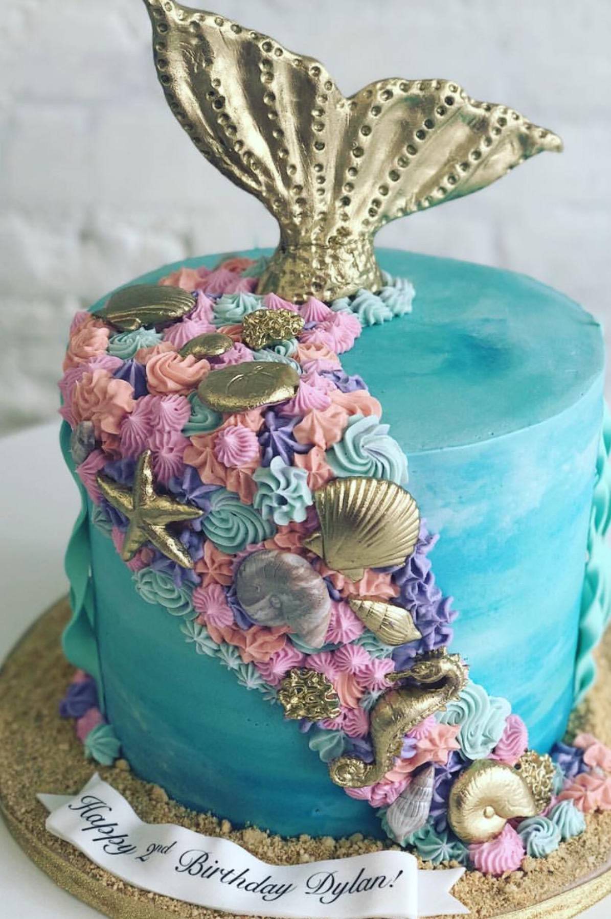 Mermaid Pool Party Birthday Cake