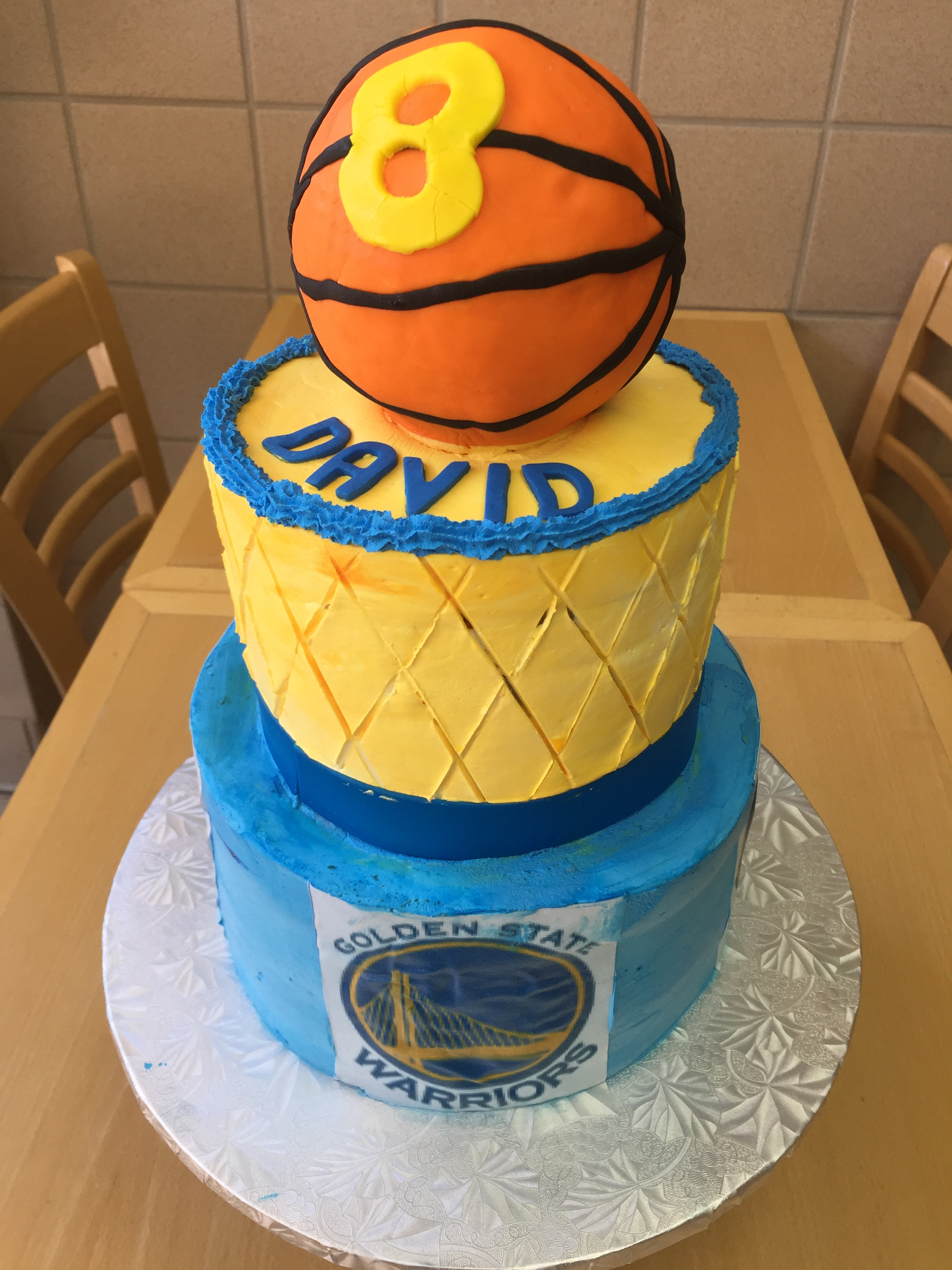 Golden State Warriors Birthday Cake – Wild Berries Bakery and Cafe