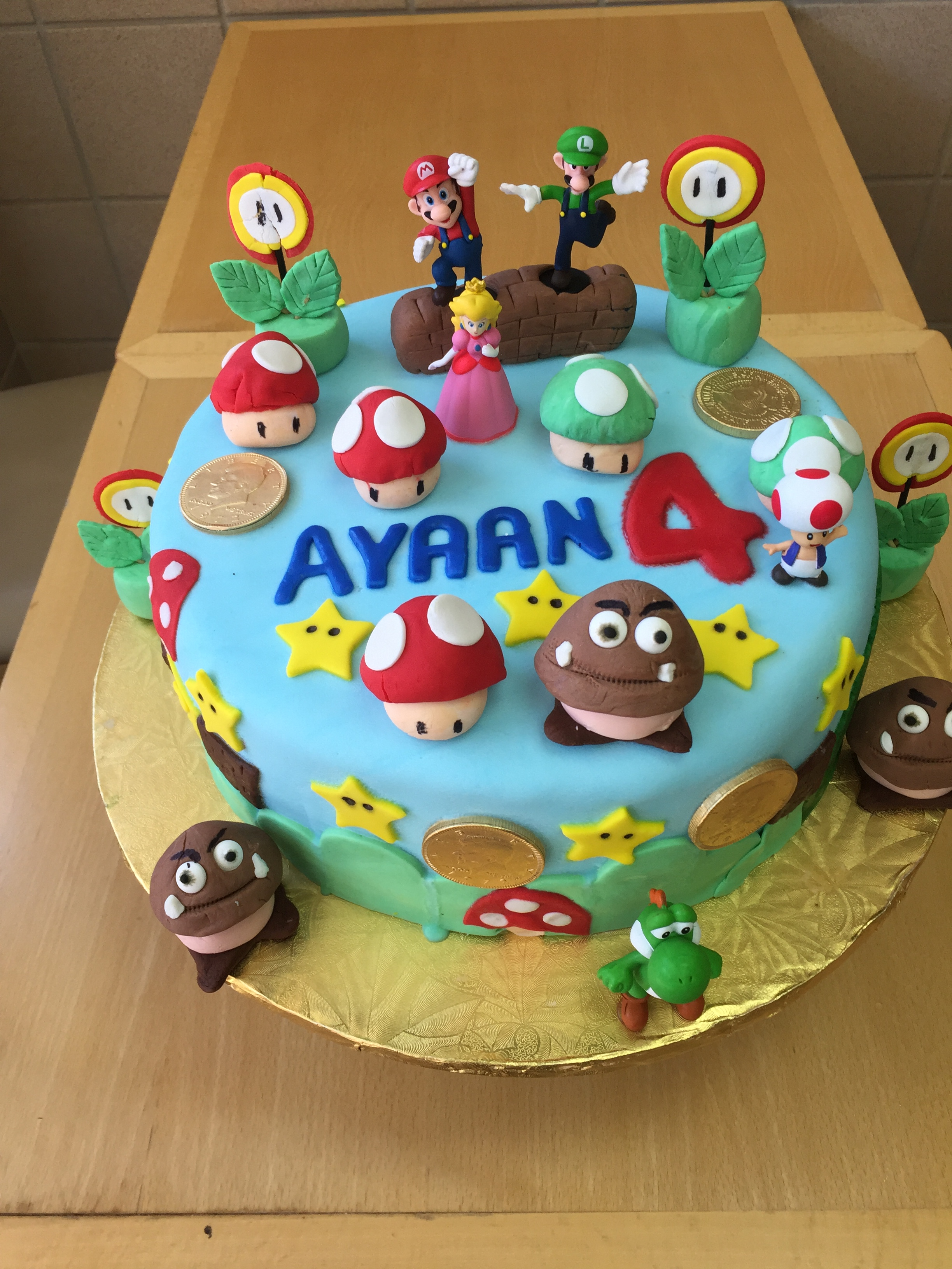 Superb Super Mario Brothers Birthday Cake Wild Berries Bakery And Cafe Funny Birthday Cards Online Bapapcheapnameinfo