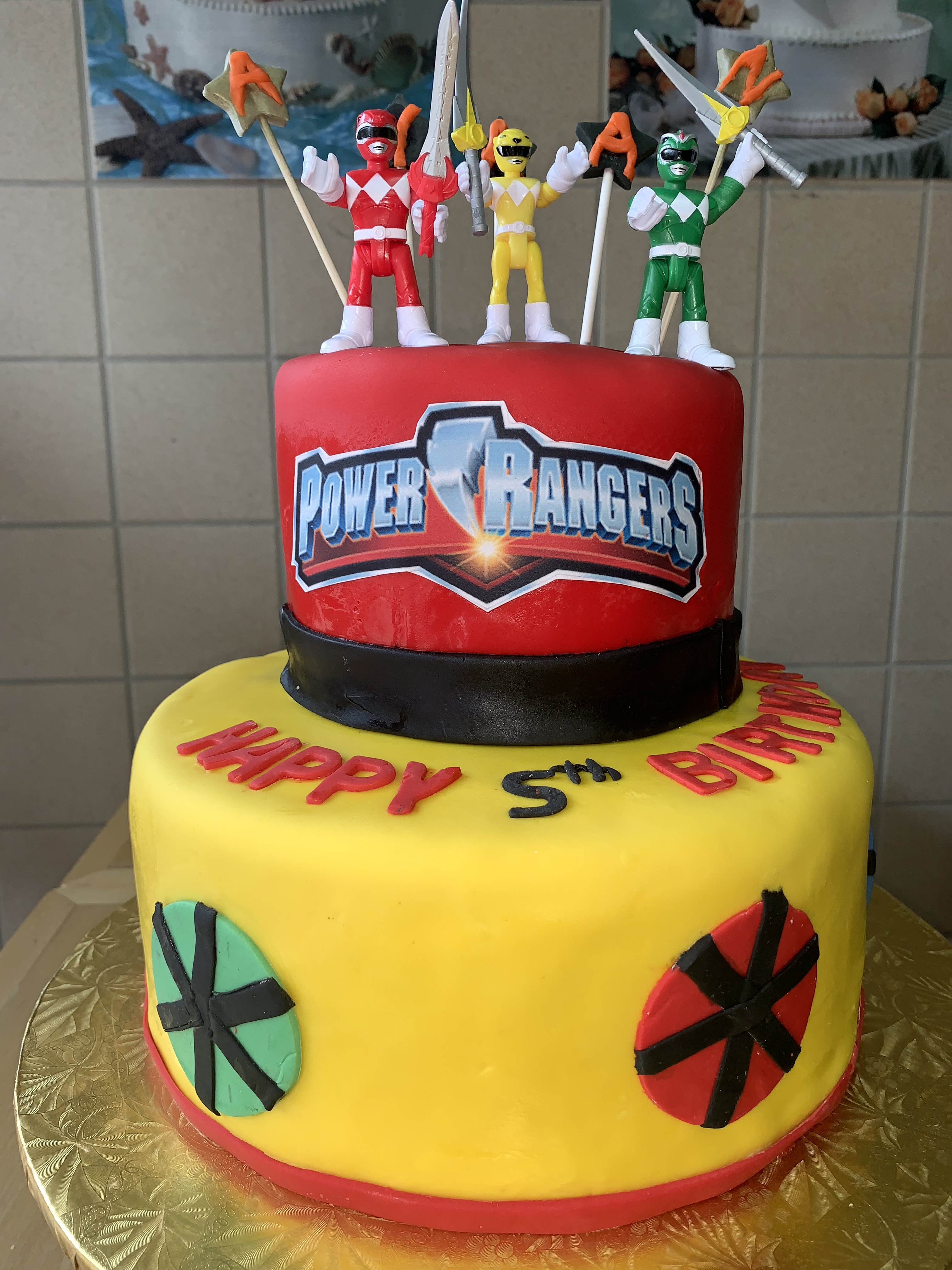 Awesome Power Rangers 5Th Birthday Cake Wild Berries Bakery And Cafe Funny Birthday Cards Online Elaedamsfinfo