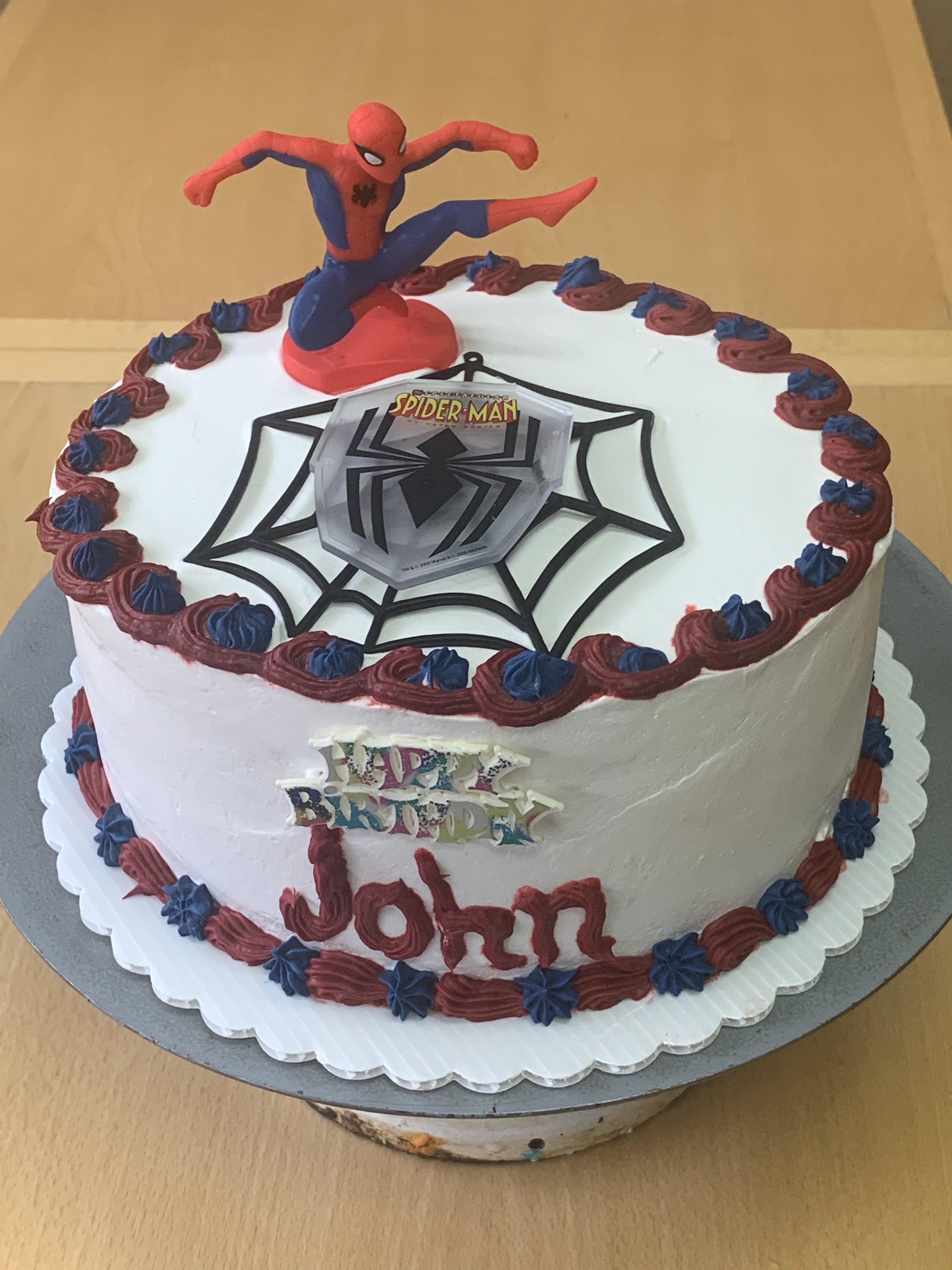 Wondrous Spider Man Boys Birthday Cake Wild Berries Bakery And Cafe Funny Birthday Cards Online Barepcheapnameinfo