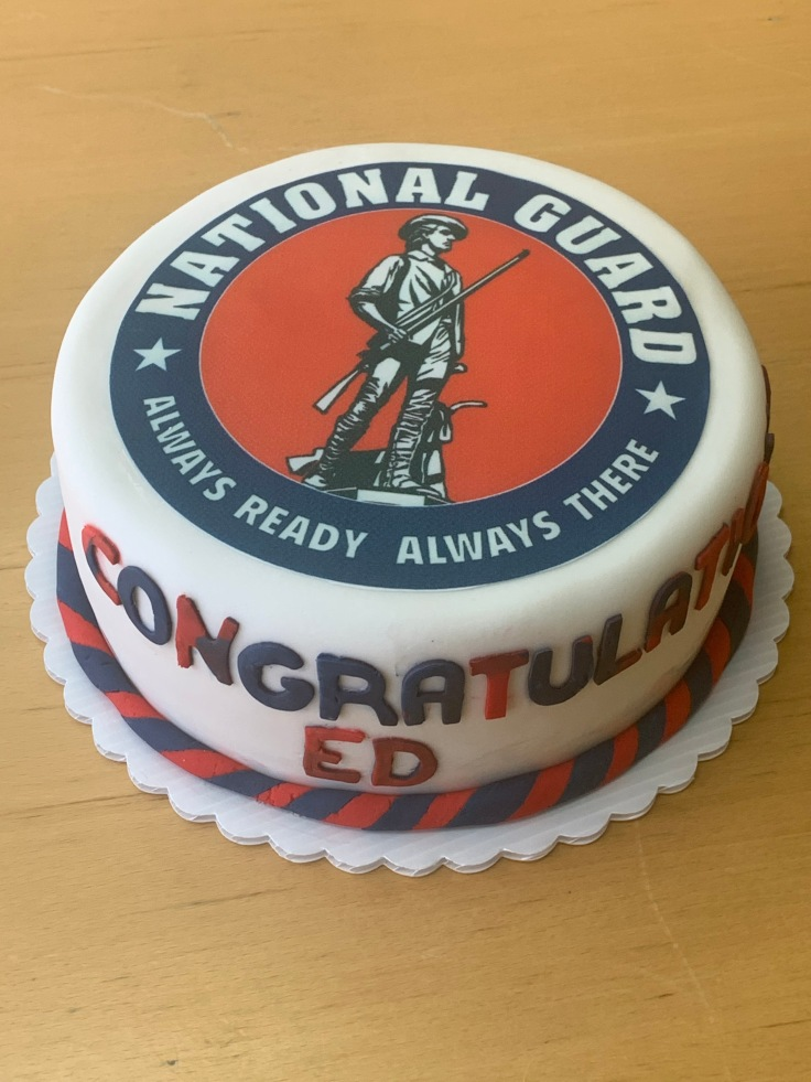 7228 -- National guard cake with chocolate on chocolate flavor 2020-035