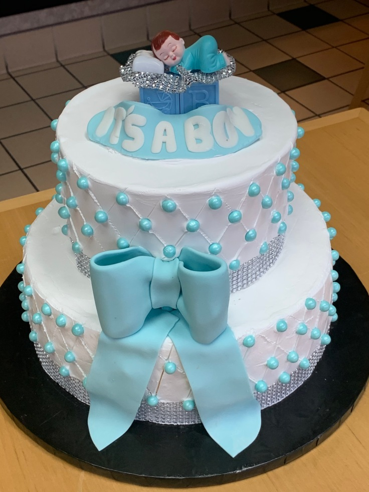7479 -- Peaches and cream boy baby shower cake 2020-038